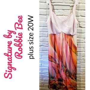Signature by Robbie Bee plus size 20W maxi dress